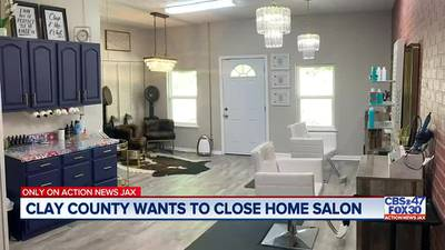 'We have a family to support' | Couple opens hair salon inside Clay County home, now told to close up shop