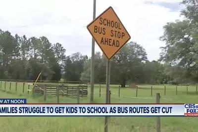 Mom says school bus stopped picking kids up in Keystone Heights neighborhood