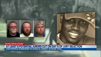 Ahmaud Arbery: At least 8 potential jurors cut on day 5 of jury selection