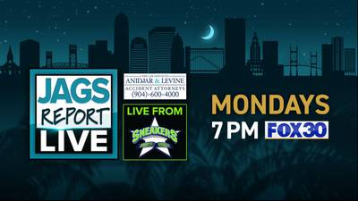 Watch Jags Report Live on FOX30 on Mondays at 7 p.m.