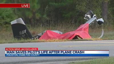 82-year-old pilot in serious condition after crash in Folkston, sheriff says