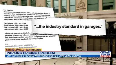 SEND BEN: Sign of times as parking prices in downtown Jacksonville increase but signage called 'misleading'