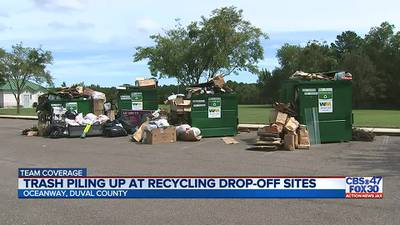 Jacksonville adds new recycling drop-off as other sites overflow