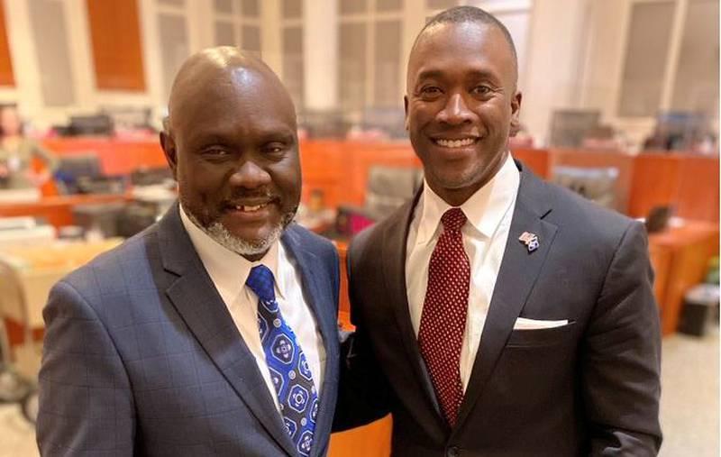 Jacksonville Councilmen Sam Newby and Terrance Freeman