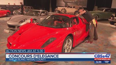Classic and rare cars on display at Amelia Island Concours d'Elegance