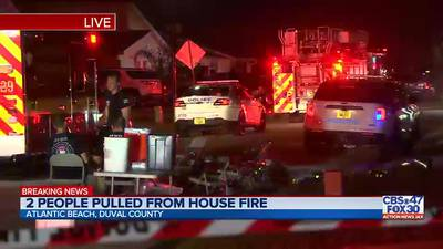2 women pulled from house fire in Mayport