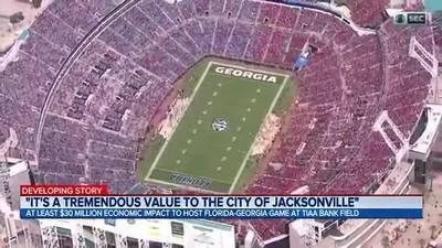 At least $30 million economic impact to host Florida-Georgia game at TIAA Bank Field