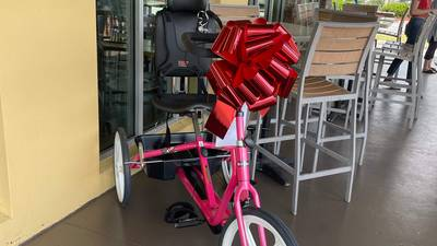 Donor replaces stolen bike for disabled woman's birthday