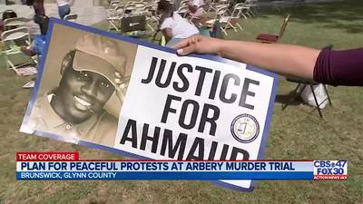 Plan for peaceful protests at Arbery murder trial
