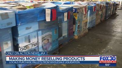Pallet wars: Jacksonville residents buy pallets to resell merchandise