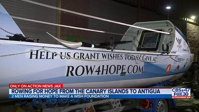 ONLY ON: Two men prepare to row across the Atlantic Ocean for Make-A-Wish Foundation