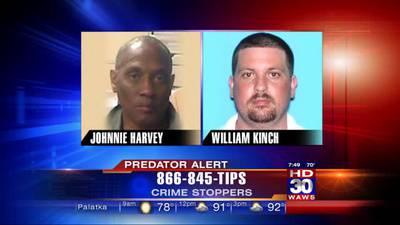 Predator Alert: Johnnie Harvey & William Kinch