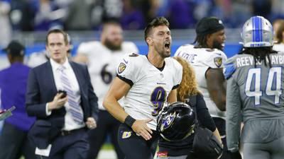 Baltimore Ravens kicker Justin Tucker boots NFL-record 66-yard field goal