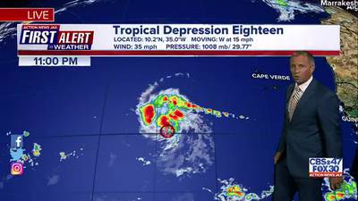 First Alert Forecast: Wed., Sept. 22nd - Late Evening