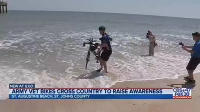 Local veteran bikes across America to raise support for vets impacted by COVID-19