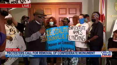 Community members call for removal of Springfield Park Confederate statue