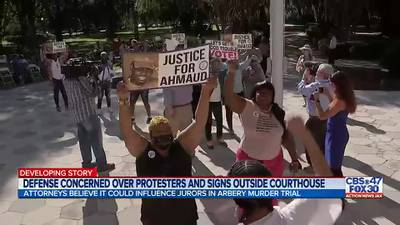 Defense concerned over protesters and signs outside courthouse