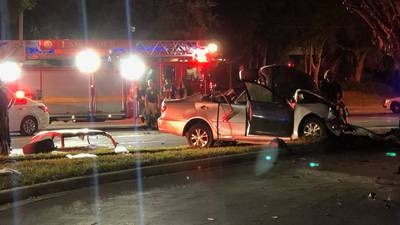 JFRD: Multi-vehicle crash with multiple patients on Emerson Street