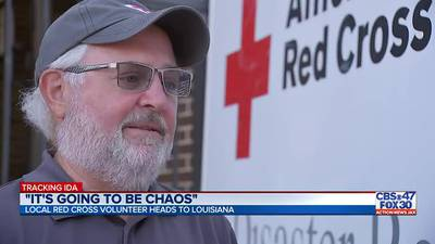 Nassau Red Cross volunteer helps pick up the pieces following Hurricane Ida
