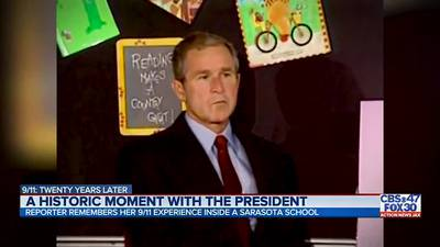 St. Johns woman recalls moment President Bush learned the U.S. was under attack on 9/11