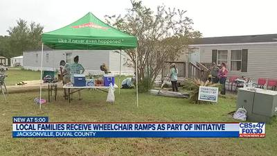 Local families receive wheelchair ramps as part of initiative