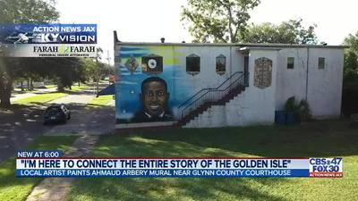 Brunswick artist hopes Ahmaud Arbery mural will help create change
