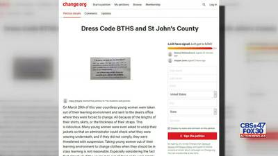Some parents call St. Johns County School District's dress code policy 'sexist' and want it changed