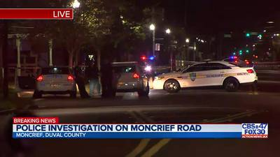 Police investigation on Moncrief Road