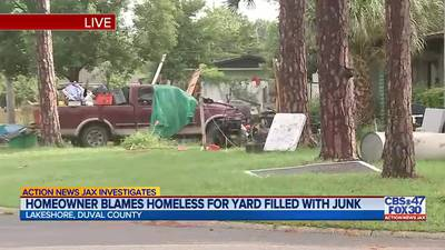 INVESTIGATES: Local man blames homeless for junk-filled yard