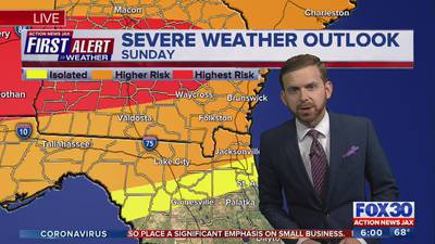 First Alert Weather: Tracking severe storms Sunday and Monday