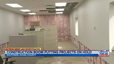 Investigates: Construction boom putting projects on hold
