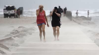 Photos: Nicholas reaches hurricane strength, takes aim at Texas