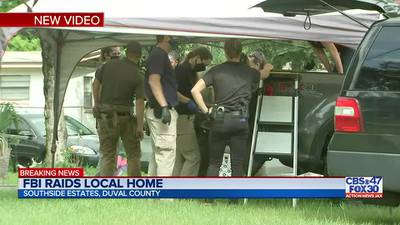 FBI and JSO raided a home in the Southside Estates area of Jacksonville