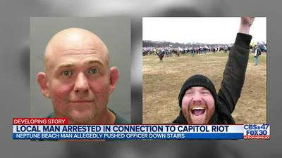 Neptune Beach man accused of breaching U.S. Capitol could face up to 37 1/2 years in prison