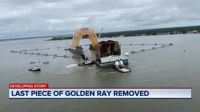 Last piece of Golden Ray removed