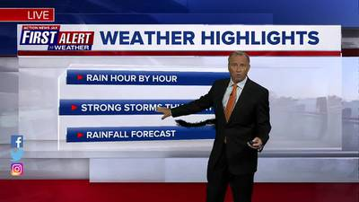 First Alert Forecast: Tue., Oct. 26th - Early Evening