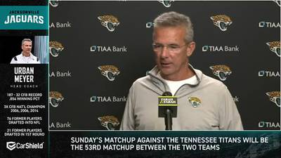 Jaguars coach Urban Meyer calls viral videos a 'speed bump' that won't get in way of his marriage