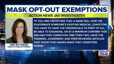 INVESTIGATES: Woman admits to signing mask opt-out exemptions