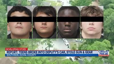 Jacksonville police: 4 teens accused of burglarizing cars linked to Labor Day standoff