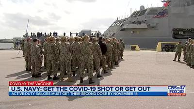 U.S. Navy: Get the COVID-19 shot or get out