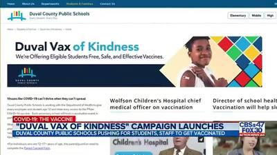 'I think it's fantastic, truly': DCPS, DOH kick off 'Duval Vax of Kindness' vaccine clinics