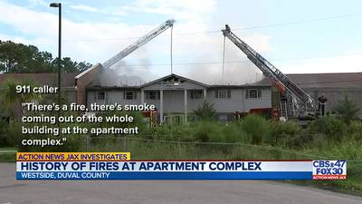 INVESTIGATES: At least 3 prior fires at Westside apartment; management helping displaces residents