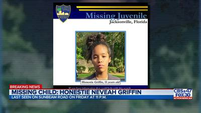 JSO search for missing child Honestie Neveah Griffin