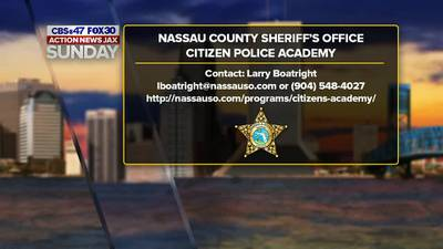 Action News Jax Sunday: NCSO building relationships through its Citizen Police Academy