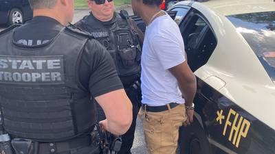 Photos: FHP arrests accused interstate gunman in West Jacksonville