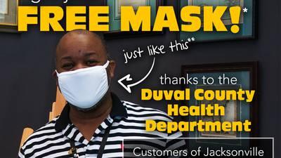 Coronavirus: Free reusable cloth masks from the Jacksonville Public Library