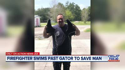 ONLY ON: Nassau County Firefighter swims past alligator to save a man from drowning