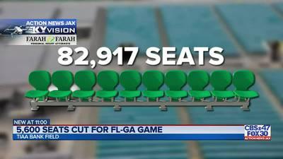 Florida-Georgia seating capacity cut by nearly 6,000