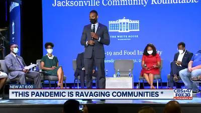White House COVID-19 response team looks at Jax food disparity