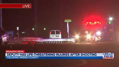 Nassau County deputy shot, in life-threatening condition